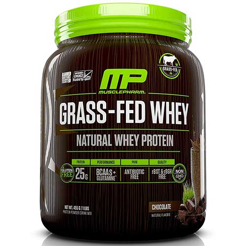 Best Organic Grass Fed Whey Protein Concentrate 8. Muscle Pharm - Grass-Fed Natural Whey Protein 14 Servings Chocolate