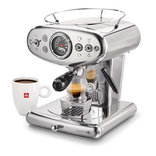 Best Fully Automatic Coffee Machines 6. Illy X1 Anniversary Espresso Machine, Stainless