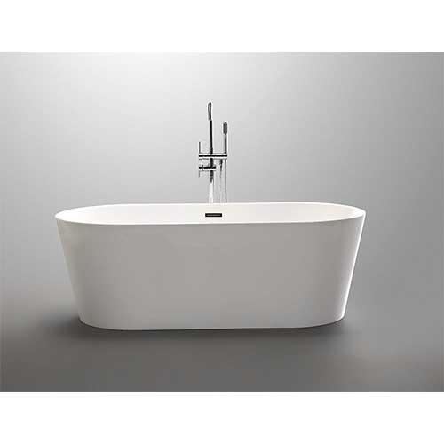 3. Luxury 59x30 Modern Contemporary Freestanding Acrylic Soaking Spa Bathtub