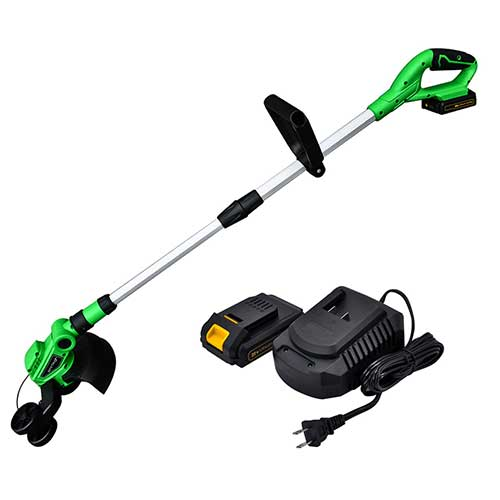 Best Electric Weed Eaters for The Money 10. Werktough 20V Cordless String Grass Trimmer/Edger Easy Use 2.0 AH Battery Charger Included G001