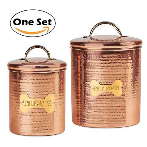 Best Dog Food Storage Container 8. JointFeat Dog Food and Treats Canisters Set