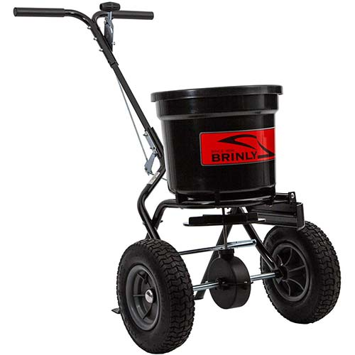 Best Commercial Walk Behind Salt Spreaders 9. EAMR-337WB101G * SaltDogg Walk Behind Salt Spreader - Black