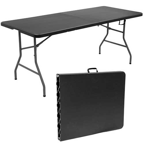 Best Folding Dining Tables 10. Goplus 6' Folding Table Portable Plastic Picnic Table