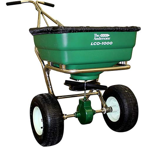 Best Commercial Walk Behind Salt Spreaders 8. EAMR-337WB201G * SaltDogg Walk Behind Salt Spreader - Stainless Steel