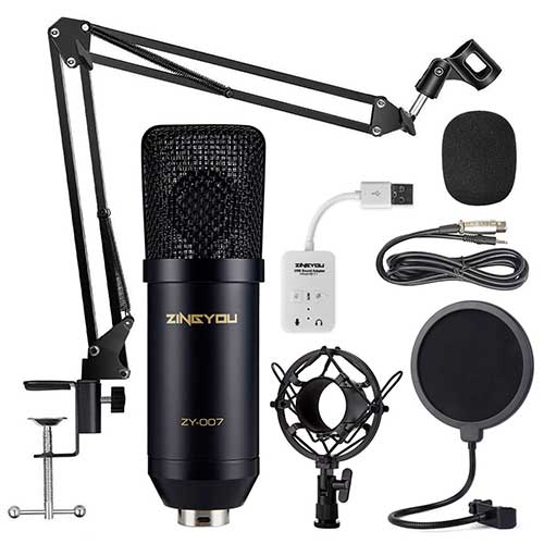 Best Vocal Condenser Mics Under 200 9. ZINGYOU Condenser Microphone Bundle