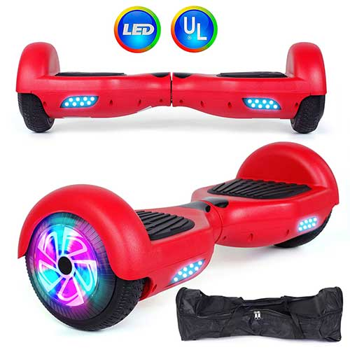 Best Hoverboards for Kids 2. Felimoda Self Balancing Hoverboards with LED Light and Carrying Case,6.5 Inch Two Wheel Smart Electric Scooter for Kids and Adults-UL2272 Certified