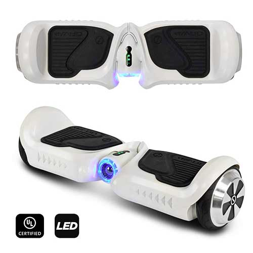 Best Hoverboards for Kids 3. CHO Electric Self Balancing Dual Motors Scooter Hoverboard with Built-in Speaker and LED Lights - UL2272 Certified