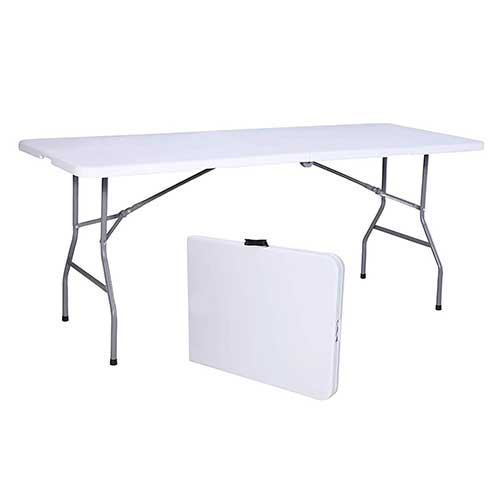 Best Folding Dining Tables 7. Uenjoy 6' Portable Folding Table Plastic Indoor Outdoor Picnic Party Camp Dining