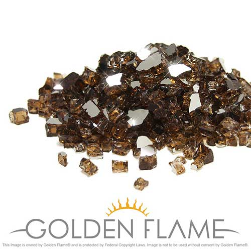 6. Golden Flame 10-Pound x 1/2-Inch (Fire Glass) Rich-Copper Reflective