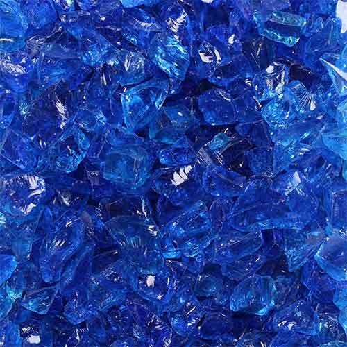 8. Celestial Fire Glass Crushed Fire Glass - Tropical Blue (1/2