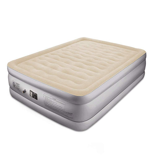 8. BFULL Air Mattress Thicken Inflatable No Leakage Airbed Portable Air Mattress Queen Size, Beige White