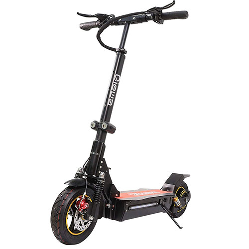 9. QIEWA Q1Hummer 800Watts Electric Scooter 26Ah 48V Lithium Battery with Dual Disk Brakes