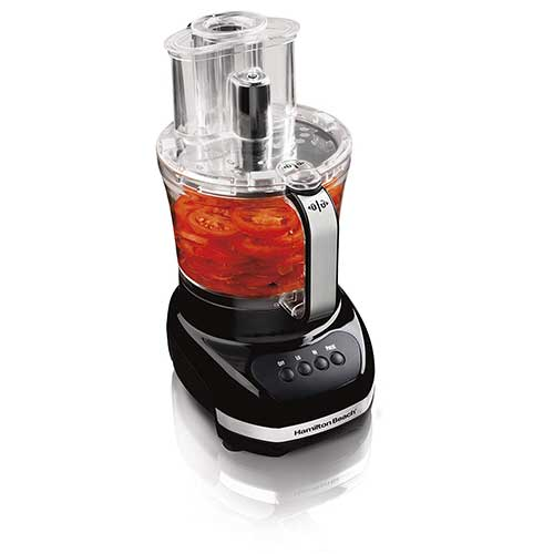 Best Hamilton Beach Food Processors 10. Hamilton Beach 12-Cup Food Processor, with Additional 4-Cup Bowl & Big Mouth Feed Tube (70580)