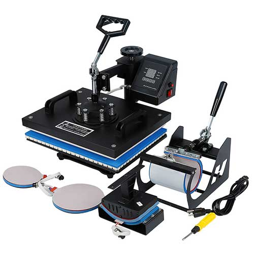 9. Tengchang 5 in 1 Heat Press Machine Digital Transfer Sublimation for T-Shirt Cap Hat Mug