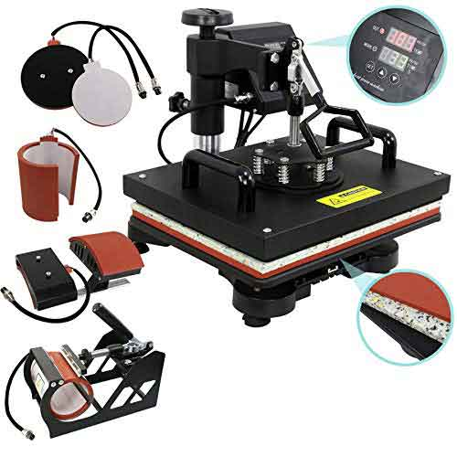 4. ZENY Digital Heat Press Transfer 5 in 1 Swing Away Heat Press Machine