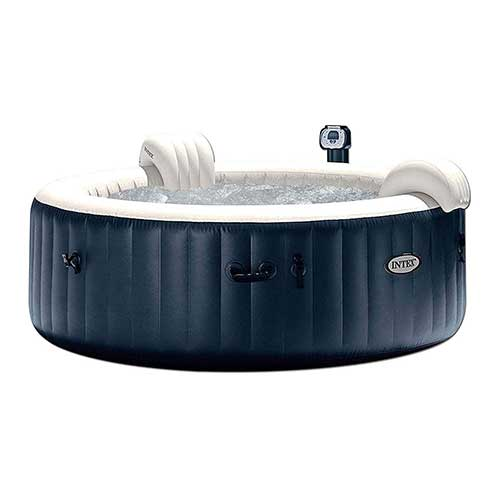 Best plug and play Hot Tubs 3. Intex Pure Spa 6-Person Inflatable Portable Heated Bubble Hot Tub | 28409E