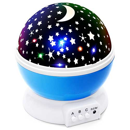 Best Baby Star projectors 2. Lizber Baby Night Light Moon Star Projector 360 Degree Rotation - 4 LED Bulbs 9 Light Color Changing