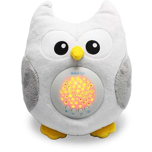 Best Baby Star projectors 8. Bubzi Co White Noise Sound Machine & Sleep Aid Night Light. New Baby Gift, Woodland Owl Décor