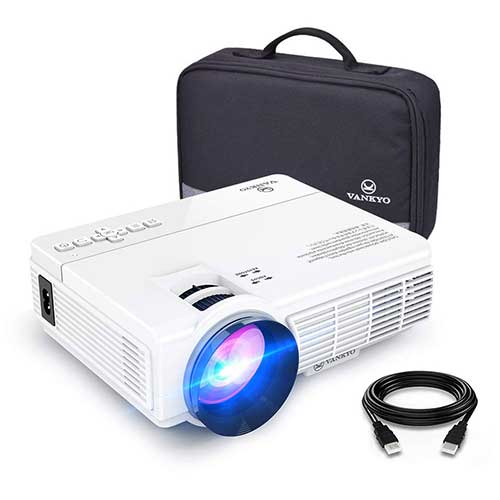 1. VANKYO LEISURE 3 Mini Projector, Full HD 1080P and 170'' Display, Compatible with TV Stick, PS4, HDMI, VGA, TF, AV and USB