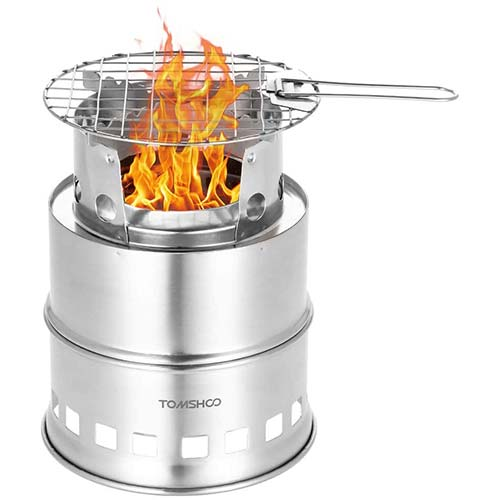 Best Wood Burning Backpacking Stoves 8. Solo Stove Titan & Solo Pot 1800 Camp Stove Combo