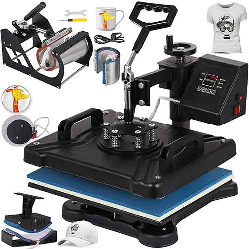 2. Mophorn Heat Press 12x15 Inch 5IN1 Heat Press Machine Transfer Combo Swing-Away Heat Press Machine