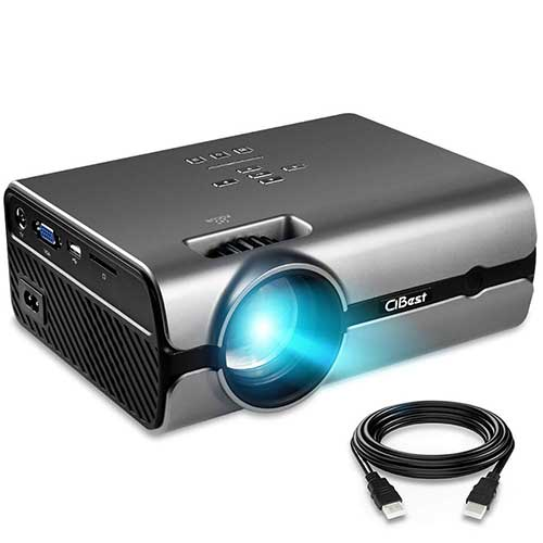 4. Projector, CiBest Video Projector with 170