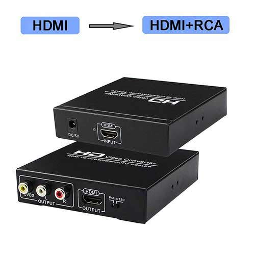 Best Hdmi to Rca Converters 9. HDMI to RCA and HDMI Converter, HDMI to AV 3RCA and HDMI Adapter Support 1080P by Enbuer