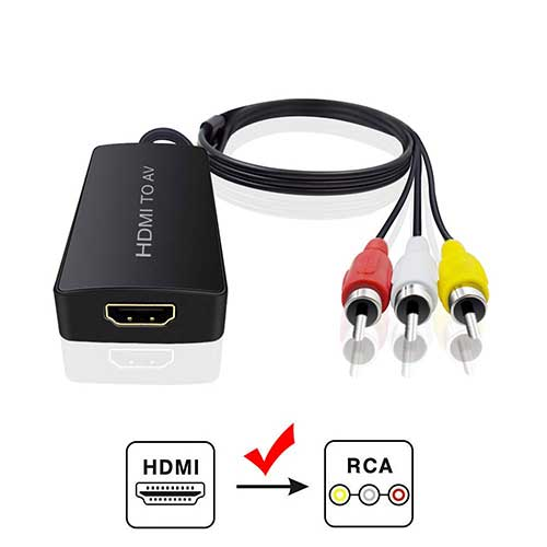 Best Hdmi to Rca Converters 2. HDMI to Audio Video Converter, HDMI to RCA Converter for Amazon Fire Stick, HDMI to Older TV Adapter for Roku by Dingsun