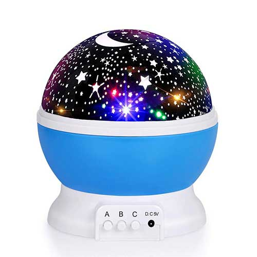 Best Baby Star projectors 4. Luckkid Baby Night Light Moon Star Projector 360 Degree Rotation