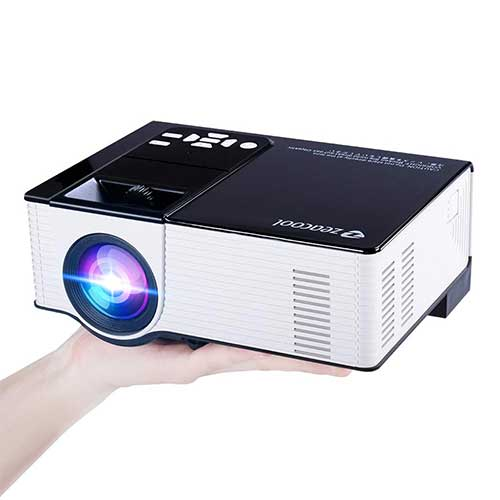 8. Zeacool Video Projector, Newest Upgrade 2200 Lumens LED Portable Home Theater Projector