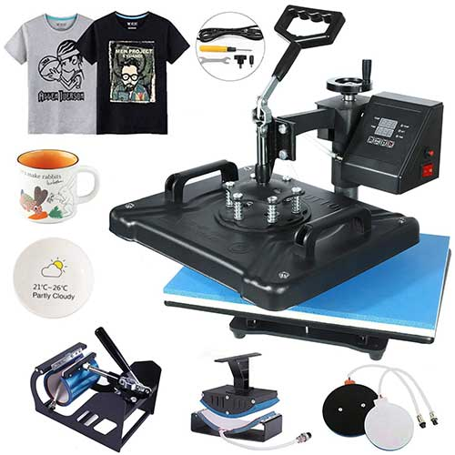 8. HikeGeek 5 in 1 Heat Press Machine 12