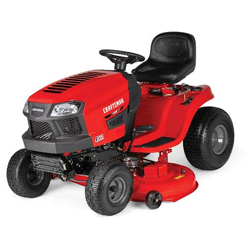 Best Riding Lawn Mower for Rough Terrain 1. Craftsman T135 18.5 HP Briggs & Stratton 46-Inch Gas Powered Riding Lawn Mower