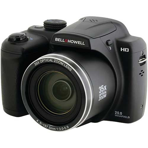 Best Bridge Cameras Under $200 7. BELL+HOWELL B35HDZ 20.0MP Superzoom Bridge Digital Camera with HD Video & 35X Wide-Angle