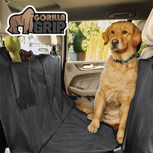 Best Car Seat Covers for Leather Seats 8. Gorilla Grip Original Durable Slip-Resistant Waterproof Dog Car Seat Protector Cover for Pets, Durable, Underside Grip (Black)