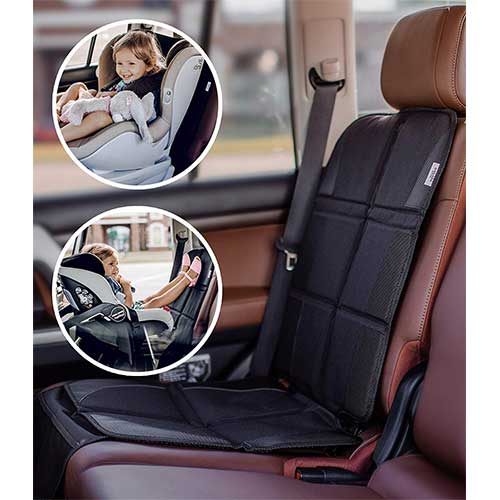Best Car Seat Covers for Leather Seats 6. Car Seat Protector for Baby & Toddler by FORTEM | 100% Waterproof Very Thick & Durable