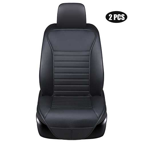 Best Car Seat Covers for Leather Seats 10. EDEALYN (2PCS Driver and Passenger Seat Cover PU Leather Seat Covers Universal Car Seat Cover