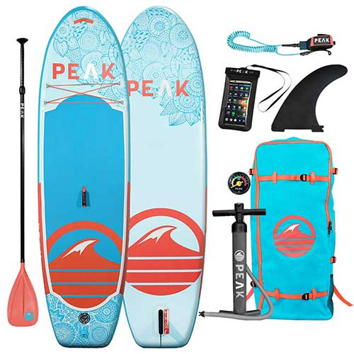 Best Paddle Boards for Yoga 4. Peak 10' Yoga Fitness Inflatable Stand Up Paddle Board | 6