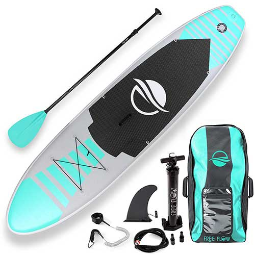 Best Paddle Boards for Yoga 1. SereneLife Premium Inflatable Stand Up Paddle Board (6 Inches Thick) with SUP Accessories & Carry Bag |
