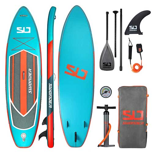 Best Paddle Boards for Yoga 7. Swonder Premium Inflatable Stand Up Paddle Board, 10'6/11'6 Long 32'' Wide 6'' Thick, Full SUP Accessories
