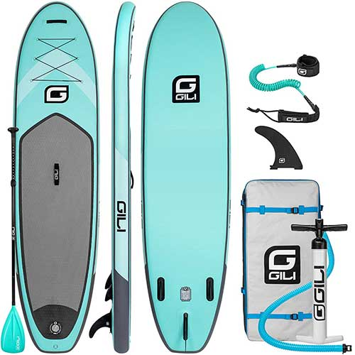 Best Paddle Boards for Yoga 9. Gili 10'6 Inflatable Stand Up Paddle Board Package (10'6