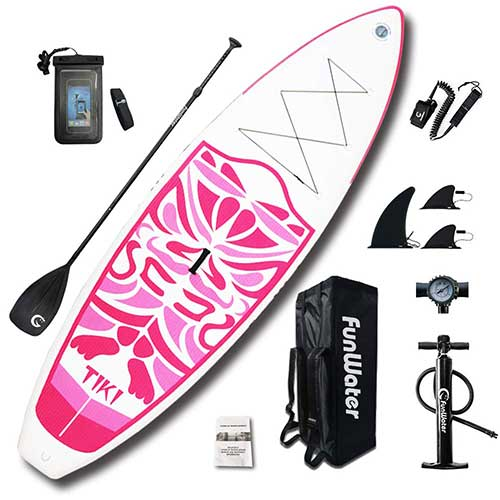 Best Paddle Boards for Yoga 3. FunWater Inflatable 10'6×33