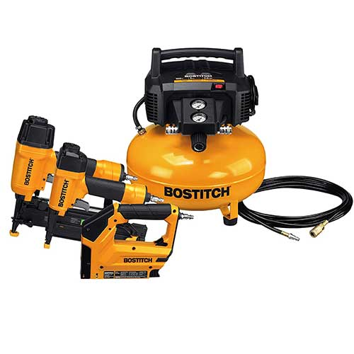 Best Home Air Compressors 8. BOSTITCH BTFP3KIT 3-Tool Portable Air Compressor Combo Kit