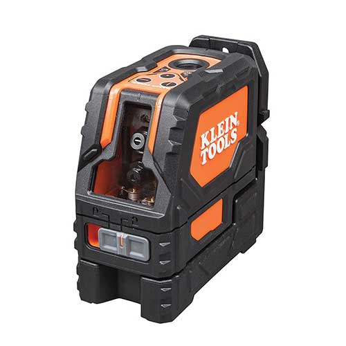 Best Laser Levels for Builders 3. Cross Line Laser Level with Plumb Spot, Self-Leveling, Includes Magnetic Mounting Clamp Klein Tools 93LCLS