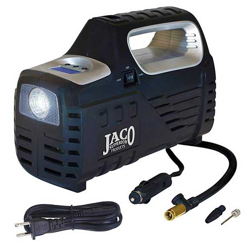 Best Home Air Compressors 5. JACO SmartPro 2.0 AC/DC Digital Tire Inflator Pump - Advanced 12V Portable Air Compressor - 100 PSI