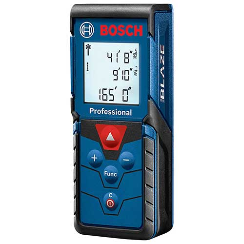 Best Laser Tape Measure 1. Bosch Blaze Pro Laser Distance Measure, 165' GLM165-40