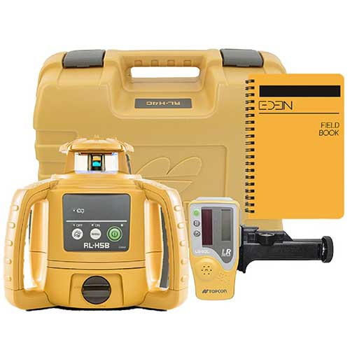Best Laser Levels for Builders 7. Topcon RL-H5B Self Leveling Horizontal Rotary Laser with Bonus EDEN Field Book| IP66 Rating