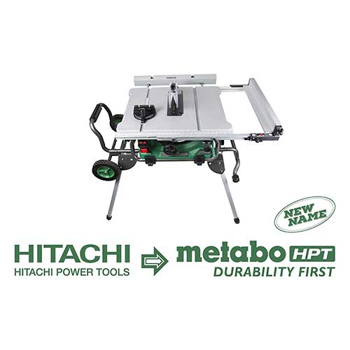 Best Table Saws for Woodworking 7. Metabo HPT C10RJ 10-Inch Jobsite Table Saw, Fold & Roll Stand, 8 x 13/16