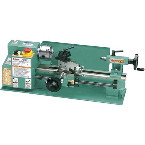 Best Beginner Metal Lathes 3. Grizzly G8688 Mini Metal Lathe, 7 x 12-Inch