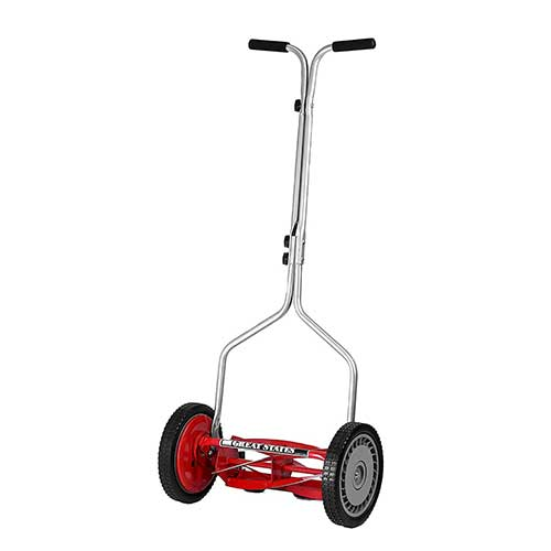 Best Lawn Mowers for Bermuda Grass 2. Great States 304-14 14-Inch 5-Blade Push Reel Lawn Mower
