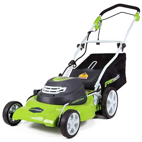 Best Lawn Mowers for Bermuda Grass 6. GreenWorks 20-Inch 12 Amp Corded Electric Lawn Mower 25022, 20 inch